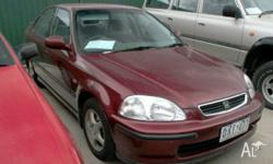 HONDA, CIVIC, 1997, Burg, SEDAN, Typical Japanese