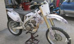 Honda Crf 450X 2007 model. Powerful four-stroke 449cc