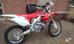 Hi, I bought this Honda CRF 450X 2010 model in late