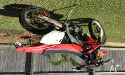 Honda CRF 450x trail bike well maintained and reliable.