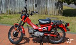 Honda CT110 for sale in very good condition. New rear