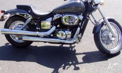 HONDA SHADOW 2002 750cc REGO TILL JAN 12 LOW K's IN