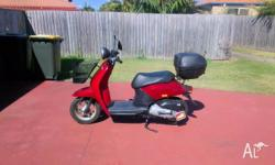 I am selling my Honda Today 50 scooter. The scooter has