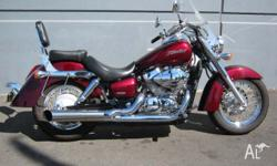 HONDA,VT750C SHADOW,2004, CRUISER, .7, 2cyl, 5 SPEED