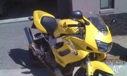Honda VTR yellow and in excellent condition. I have