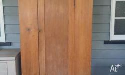Solid Hoop Pine Linen Cupboard, late 1800's. In very