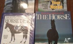 Four horse books: The Illustrated Guide to Horse Tack