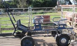Versatile well sprung trolley. Great for around the