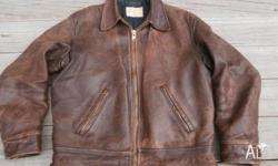 """Lake O Woods"" Horsehide Brown Leather Motorcycle"