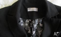Hot Options Size 10 Black Dress Jacket. Fully lined.
