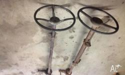 1946-48 ford original steering box column and wheel