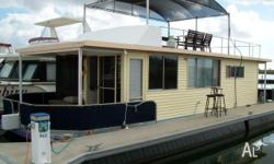 Blue Pacific 43 Houseboat, powered by a Yanmar 20 HP
