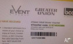 Hoyt's tickets $11.5 Events Cinemas tickets $13, kids