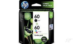 Selling this HP 60 Black/Tri-Colour Ink Cartridge Combo