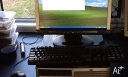 "Complete PC with 17"" LCD monitor, keyboard and mouse."