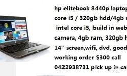 hp elitebook 8440p laptop/core i5 /4gb ram/320gb