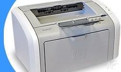HP LaserJet 1010 A4 Mono Laser Printer. In excellent