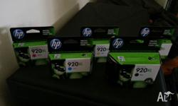 FOR SALE I HAVE 5 X HP 920XL PRINTER CARTRIDGES: THESE