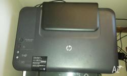 Hp Printer and Scanner works perfect with ink included.