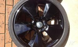 4x HSV stamped 19x8 Signature wheels with tyres, about