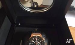 HUBLOT BIG BANG 18kt rose gold case with a rubber