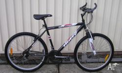 "HUFFY SOLANA MOUNTAIN BIKE IN GOOD CONDITION. 26"" ALLOY"