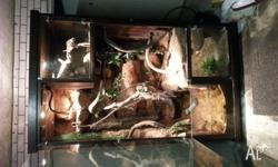 Selling my 8x4x4ft enclosure. 3 part with fish tank in