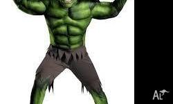 Adult size hulk costume. Only used once. Perfect