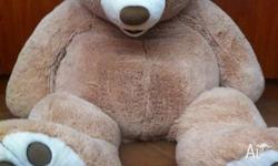 Big fluffy caramel coloured teddy bear! It's