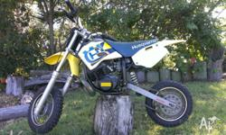 This motorbike is in good condition and runs well. The