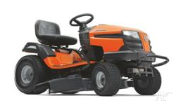 Efficient garden tractor with side ejection, smart