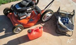 Husqvarna push mower with Honda OHV160cc engine and