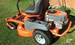 HUSQVARNA RIDE ON 12 months old its a zero turn with