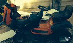 Ride on mower good for slashing pkease call jeff