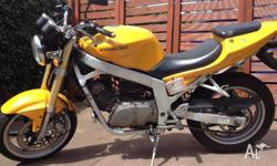 For sale is my LAMS certified Hyosung GT250 in yellow.