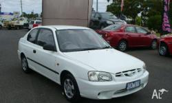 HYUNDAI, Accent, LC, 2001, Front Wheel Drive, White,