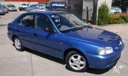 HYUNDAI, ACCENT, LC, 2001, FWD, BLUE, 5D HATCHBACK,