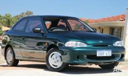 HYUNDAI, Excel, 1995, Front Wheel Drive, Green, GREY