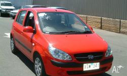 HYUNDAI,GETZ,TB MY09,2009, FWD, RED, 5D HATCHBACK,