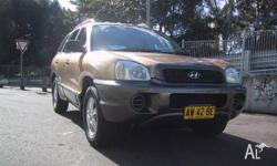 HYUNDAI,SANTA FE,2002, 4WD, GOLD, BROWN trim, 4D WAGON,