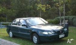 HYUNDAI, SONATA, 1997, FWD, green, grey trim, 4D SEDAN,