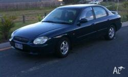 HYUNDAI, SONATA, 2000, FWD, blue, grey trim, 4D SEDAN,