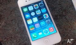 i-Phone 4 white 16GB unlocked- any SIM / Carrier o.k.