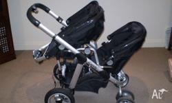 ICANDY PEAR DOUBLE PRAM FOR SALE. VERY GOOD CONDITION.