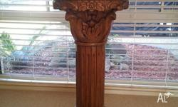Antique statue and table for sale in excellent