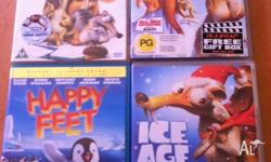 Ice Age 1, 2 and a Mammoth Christmas Happy Feet
