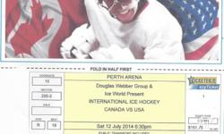 One ticket available for the Canada vs USA Ice Hockey