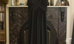 $10 ICE long black dress. Immaculate condition. Size
