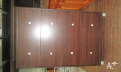 Great looking IKEA chest of drawers. Chocolate brown.