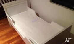 This white ikea bed size 165*75*47 was purchased few